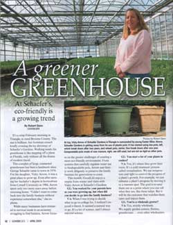 Goodlife Article about Schaefers Gardens going green
